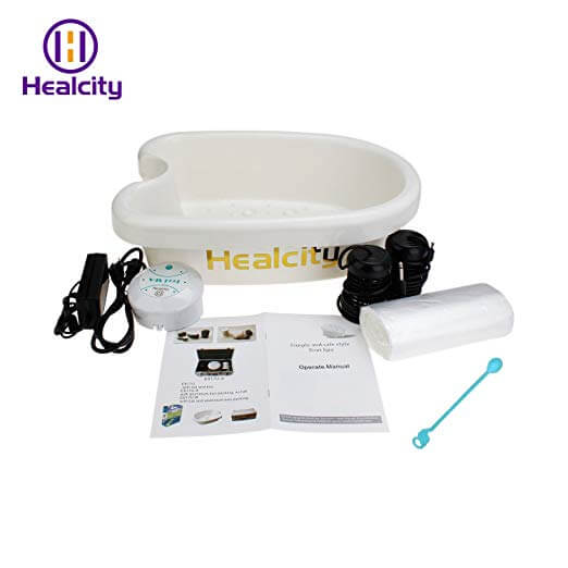 healcity ionic foot spa machine with manual and accessories