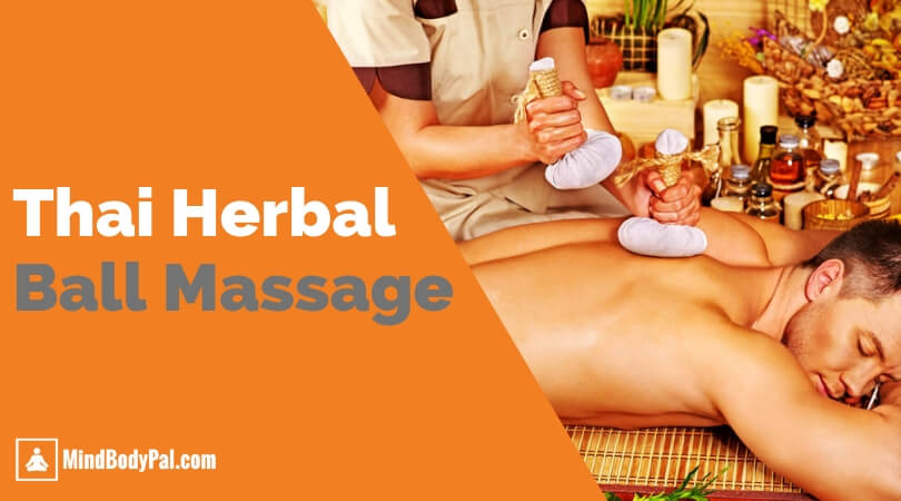 Thai Herbal Massage Compress On A Muscular Man