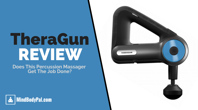 theragun review and picture of the percussion gun